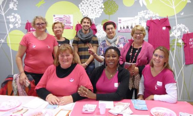 Sensibilisation au dépistage du cancer du sein pour la journée Octobre Rose